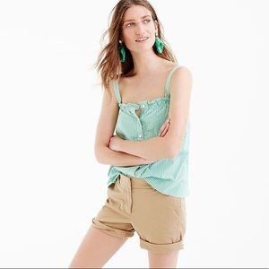 NWT J. Crew Button Front Ruffle Top